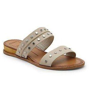 DOLCE VITA Pacey Studded Slide Sandal Suede 8.5Tan
